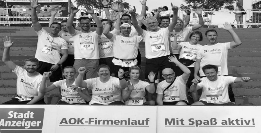 Team-Spirit beim AOK-Lauf
